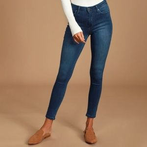 Just Black Aralia Dark Wash High Rise Skinny Jeans